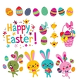 Happy Easter design elements set vector image