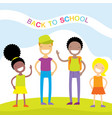 happy kids back to school vector image vector image