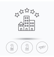 Hotel airplane and do not disturb icons vector image vector image