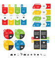infographic set with symbol in color set vector image