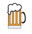isolated beer mug icon vector image vector image