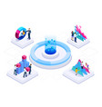 isometric concept business teams meeting vector image vector image