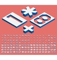Isometric numbers and punctuation marks vector image vector image