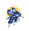 Japanese samurai warrior fighting vector image vector image