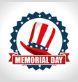 memorial day with hat usa vector image vector image