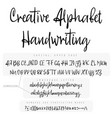 modern calligraphy vintage handwritten font vector image vector image