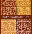 patterns pastry vector image vector image
