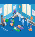 physiotherapy isometric composition vector image vector image