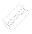 razor blade outline design isolated on white vector image