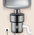 realistic food waste disposer vector image vector image