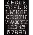 retro font and set digits vector image