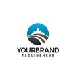 road mountain logo design concept template vector image vector image
