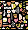 seamless abstract colorful kids pattern vector image