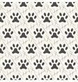 seamless animal pattern paw footprint vector image vector image