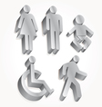 set icon man woman baby vector image