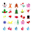 set of christmas 25 icons happy new year vector image