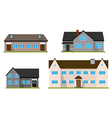 Set of flat house Home vector image vector image