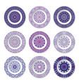set of nine decorative plates vector image