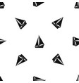 small yacht pattern seamless black vector image vector image