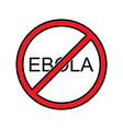 Stop Ebola sign vector image