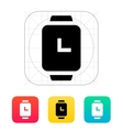 Time on smart watches icon vector image