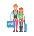 Travel couple vector image