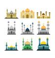 various islamic mosque building design set vector image