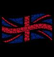 waving british flag pattern of coffee bean items vector image vector image