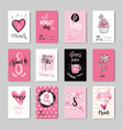 women day background holiday greeting cards set vector image