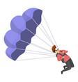 young parachuter icon cartoon style vector image vector image