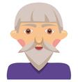 Cartoon elderly man vector image