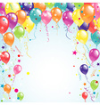 Color beautiful party balloons vector image
