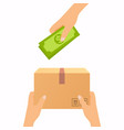 concept for delivery service cash on delivery vector image