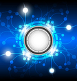 abstract energy button background vector image vector image