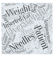 Acupuncture and Weight Loss Word Cloud Concept vector image vector image