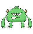angry green goblin cartoon monster vector image vector image