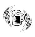 beer logo - emblem brewery vector image vector image