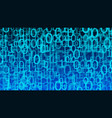 binary code stream computer cloud background vector image vector image