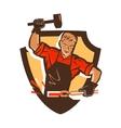 blacksmith smithy logo or icon vector image vector image