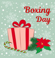 boxing day sale of a square banner or card a gift vector image vector image