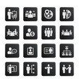 business management and human resource icons vector image
