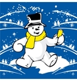 Cheerful snowman vector image vector image