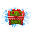 christmas holiday chest in cartoon style icon for vector image