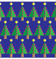 Christmas tree seamless geometric pattern vector image vector image