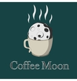 Coffee and moon vector image