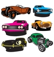 collection with colored vector image vector image