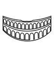 Colosseum in Rome icon outline style vector image