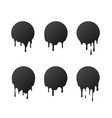 dripping black circles paint patches vector image vector image