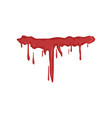 dripping blood on a white vector image