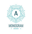 elegant line art circle logo and monogram design vector image vector image